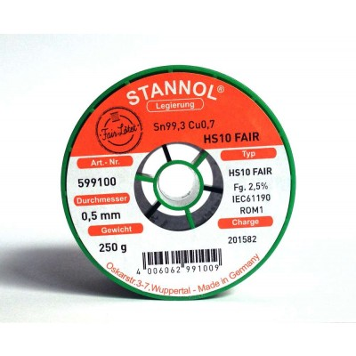 Stannol HS10-fair 0.5mm (250g)